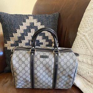 Gucci Joy Boston Supreme Bag brown monogram EUC